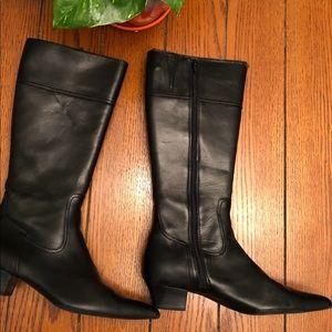 Franco Sarto mid calf black boots